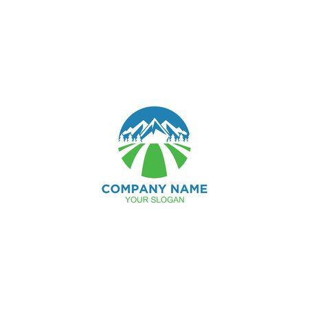Mountain Land Logo Design Vector