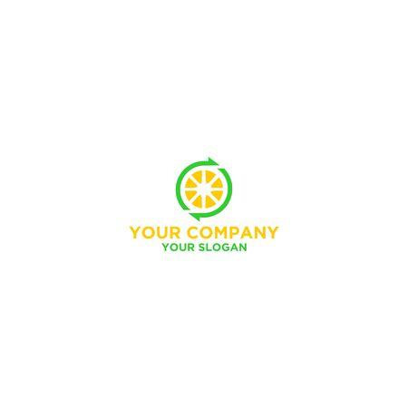 Recycle Lemon Logo Design Vector