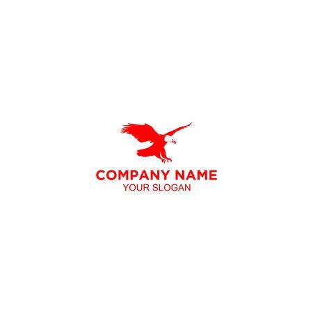 Red Hawk Logo Design Vector Standard-Bild - 129101267