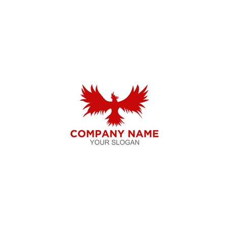 Red Phoenix Logo Design Vector Banque d'images - 129101365