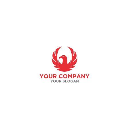 red phoenix logo design vector Banque d'images - 129101371