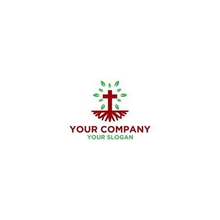 Roots Church Logo Design Vector Stock fotó - 129101382