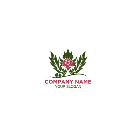Rose shamrock and thistle Logo Design Vector