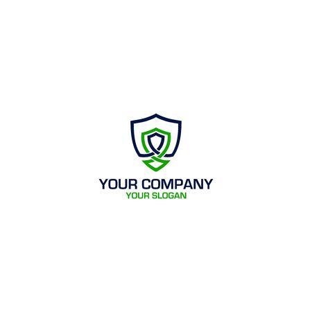 Secure Defense Logo Design Vector