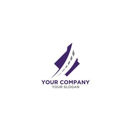 Street Insurance Logo Design Vector