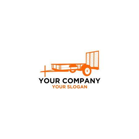 Tex Trailers Logo Design Vector Illustration