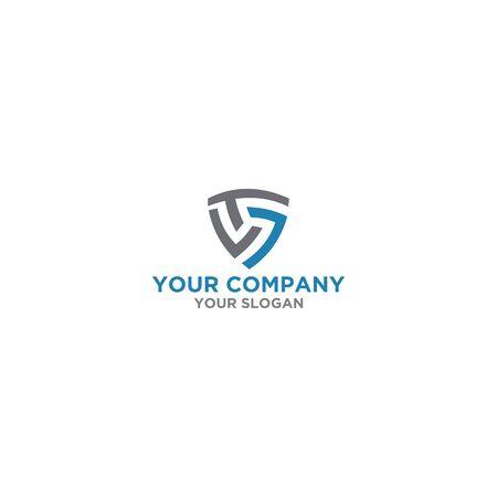 TS Triangle Logo Design Vector