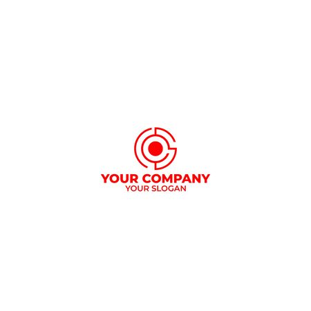 CS Target Logo Design Vector Banco de Imagens - 128801133