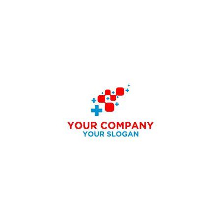 Digital Medical Control Logo Design Stock Vector - 128801126