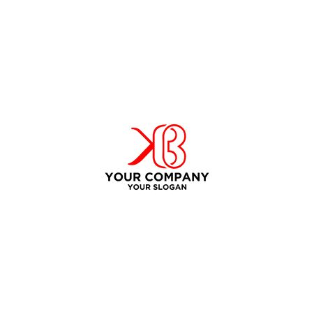 K and B Logo Design Vector
