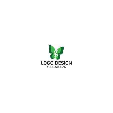 Letter G in Butterfly Logo Design Vector Stock Illustratie