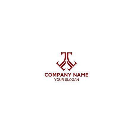Letter triple t logo template