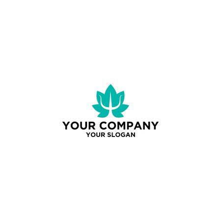 Psychology Flower logo design vector