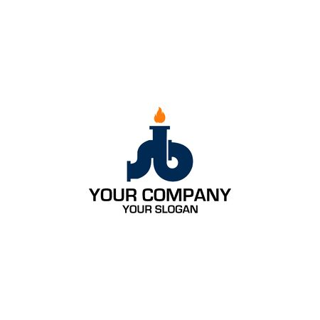 SB plumbing and heating Logo Design Vector
