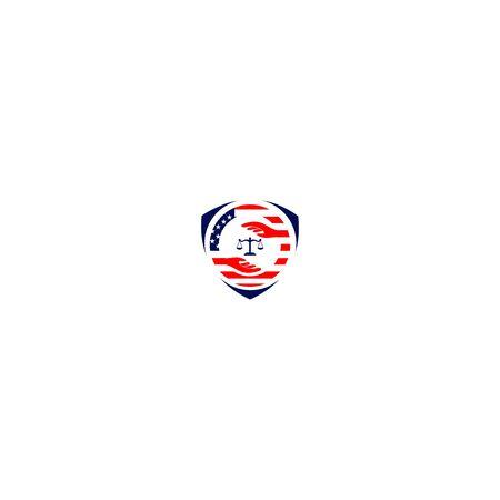 Scales Shield Law Firm Logo Design Ilustrace
