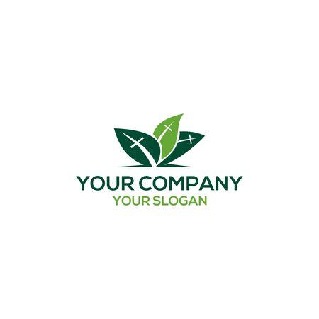 three leaves church logo design