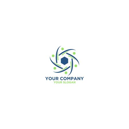 Alliance Hexagon Logo Design Vector