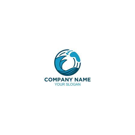 Podiatric Wave Therapy Logo Design Vector