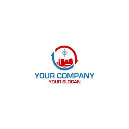 City HVAC Logo Design Vector Stock Vector - 129166222