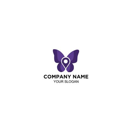 share location butterfly logo design