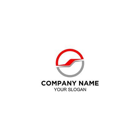 S steering wheel logo design vector