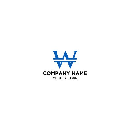 W Coin Logo Design Vector