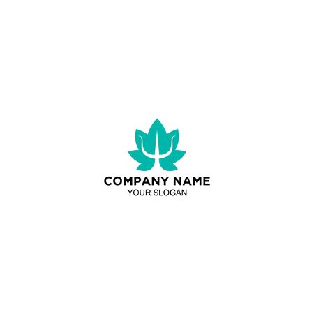 flower of neptune logo design vector Standard-Bild - 129167017