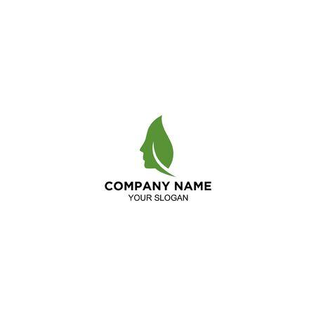 Skin leaf Logo Design Vector