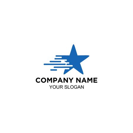 speed star logo vector design