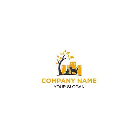 City Veterinary logo design vector