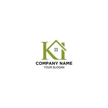 K and I real estate logo design vector
