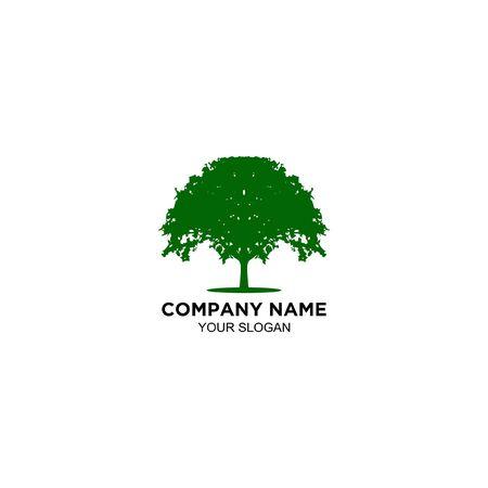 natural oak tree logo design vector Zdjęcie Seryjne - 129142460