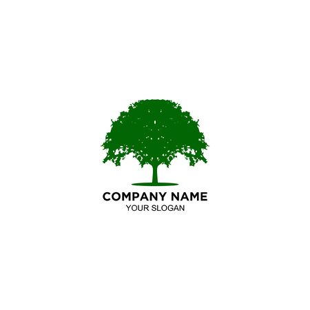 natural oak tree logo design vector