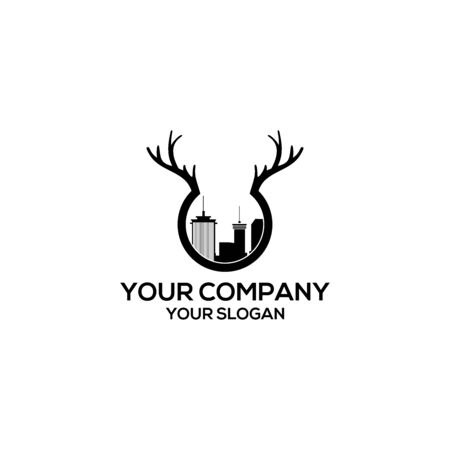 city antlers logo design vector