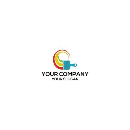 painting house logo design vector Stock Illustratie
