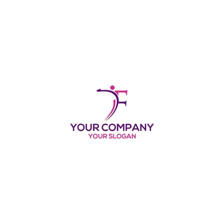 F Gym and Wellness Logo Design vector