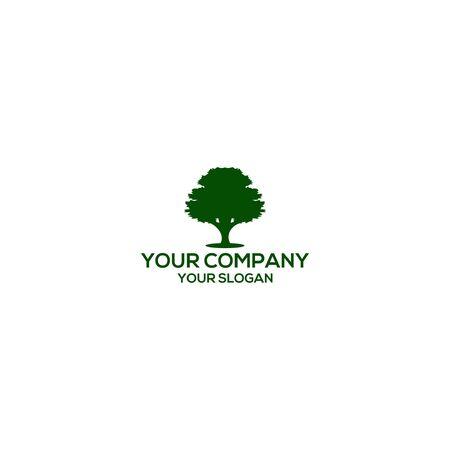 Green Oak Tree Logo Design