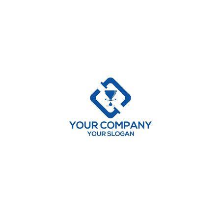filtering water plumbing logo design