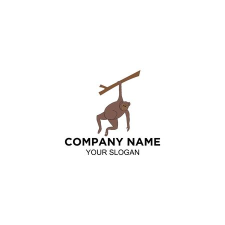 Monkey Abstract Logo Design Vector Stock fotó - 129794886