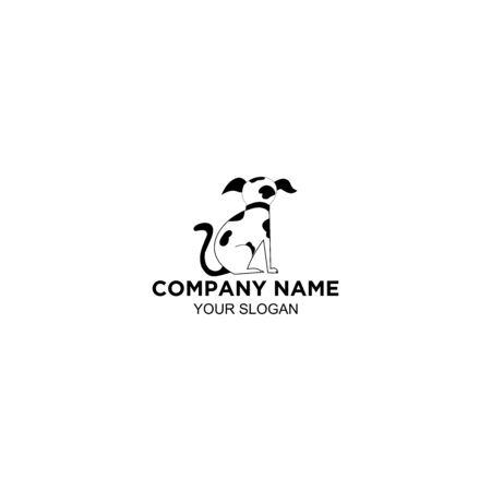 dalmation dog logo design vector