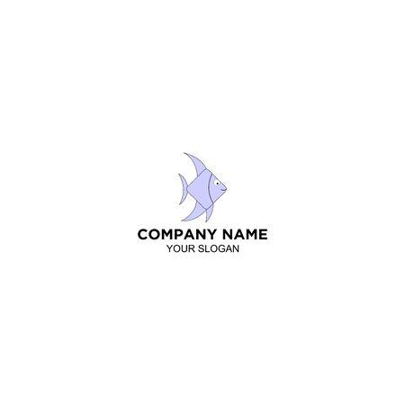 Fish Cute Logo Design Vector