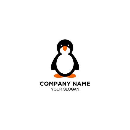 Pinguin Cute Logo Design vector