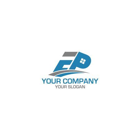 EP Home Logo Design Vector 일러스트