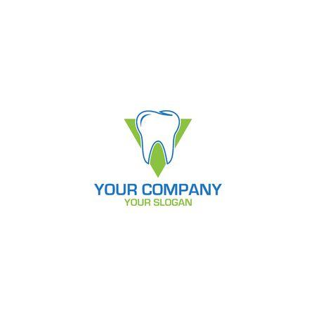 V Dental Logo Design Vector Ilustração