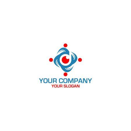 D Vision Community Logo Design Vector