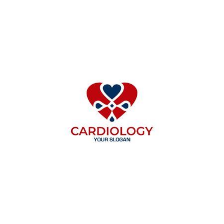 Cardiovascular Clinic Logo Design vector