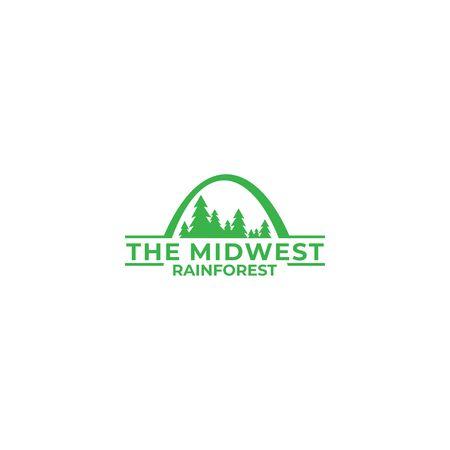 Rain Forest Logo Design Vector