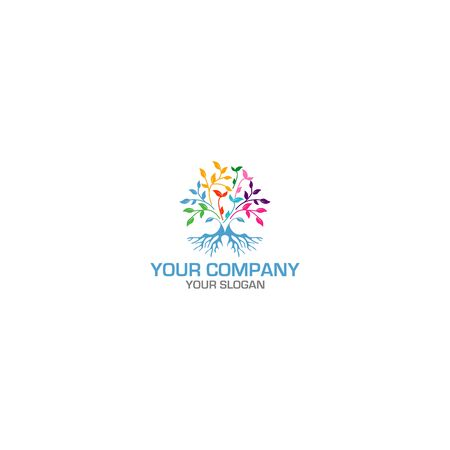 Tree Roots Life Logo Design vector 向量圖像