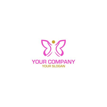 B Beauty Butterfly Fashion Logo Design Vector