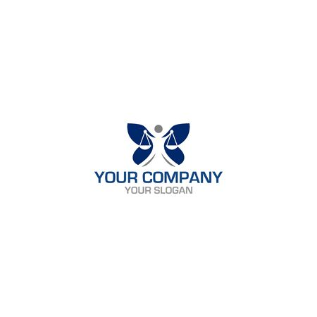 Justice Law Butterfly Wing Logo Design vector